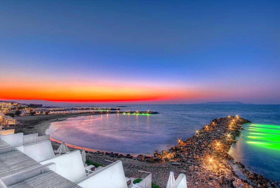 Knossos Beach Sunset - Crete by Nadia Sanowar