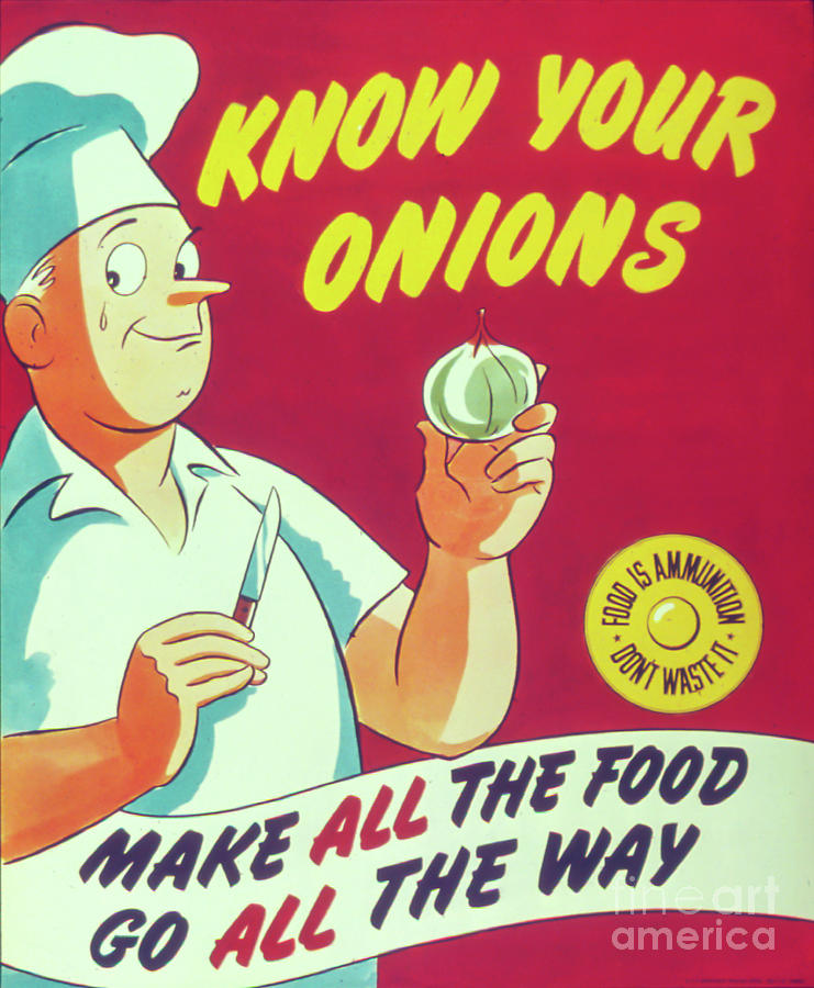 Kitchen Photograph - Know Your Onions by Delphimages Photo Creations