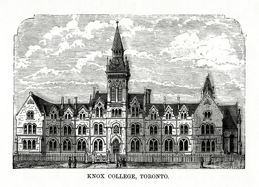 Knox College, Toronto, Ontario, Canada Drawing by Print Collector