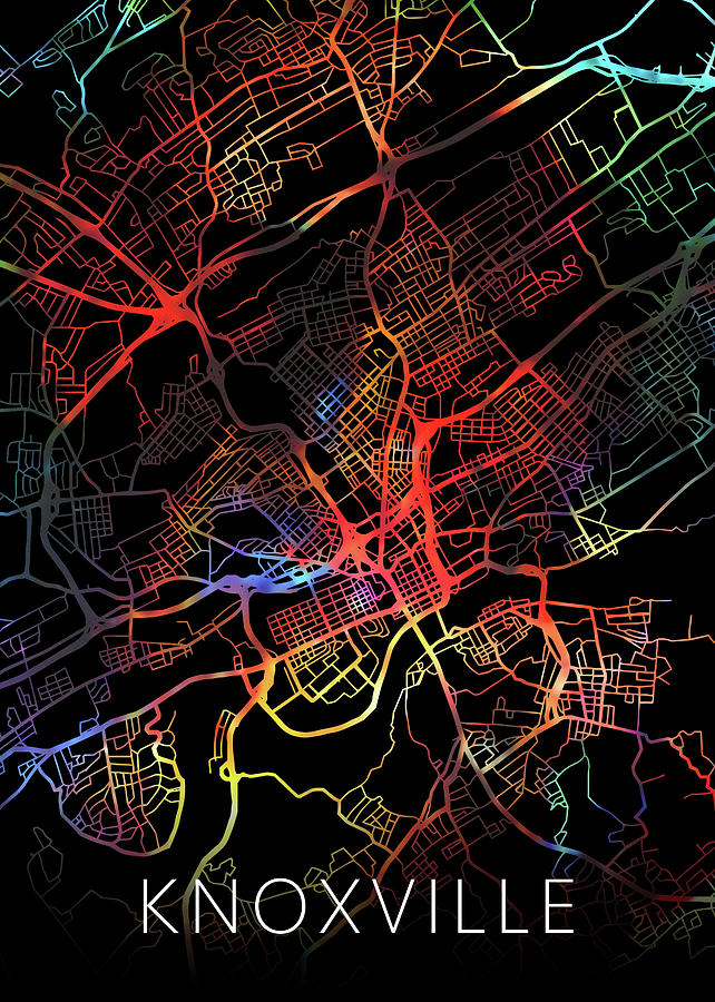 Knoxville Tennessee Watercolor City Street Map Dark Mode by Design on knoxville iowa city map, knoxville courthouse, knoxville tennessee on map, knoxville railroad map, knoxville old city map, knoxville md map, knoxville sites, knox tn map, knoxville old city historic district, knoxville zip code map, knoxville road map, west knoxville tn map, knoxville suburbs, knoxville area map, knoxville lakes, knoxville ia map, knoxville smokies, johns creek ga zip code map, west town mall knoxville map,