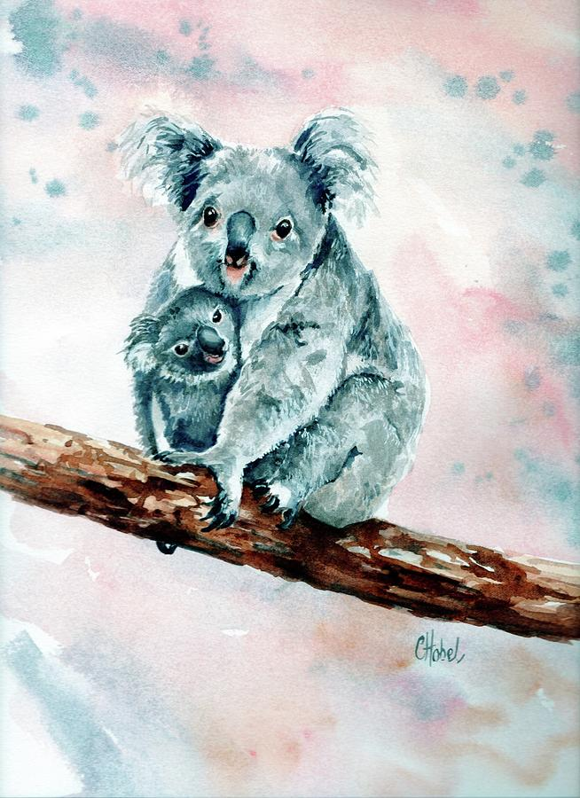 koala and joey painting by Chris Hobel