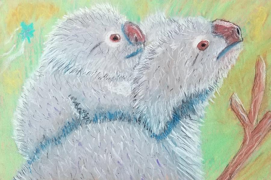 Pastel Painting - Koala With Baby - Pastel Wildlife Painting by Shawn Ballard
