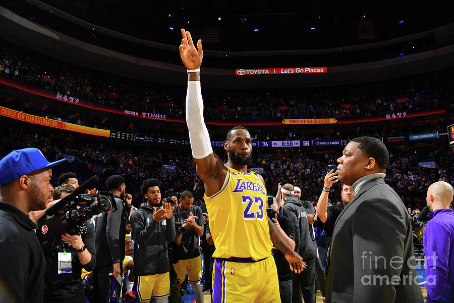 Kobe Bryant And Lebron James Photograph by Jesse D. Garrabrant