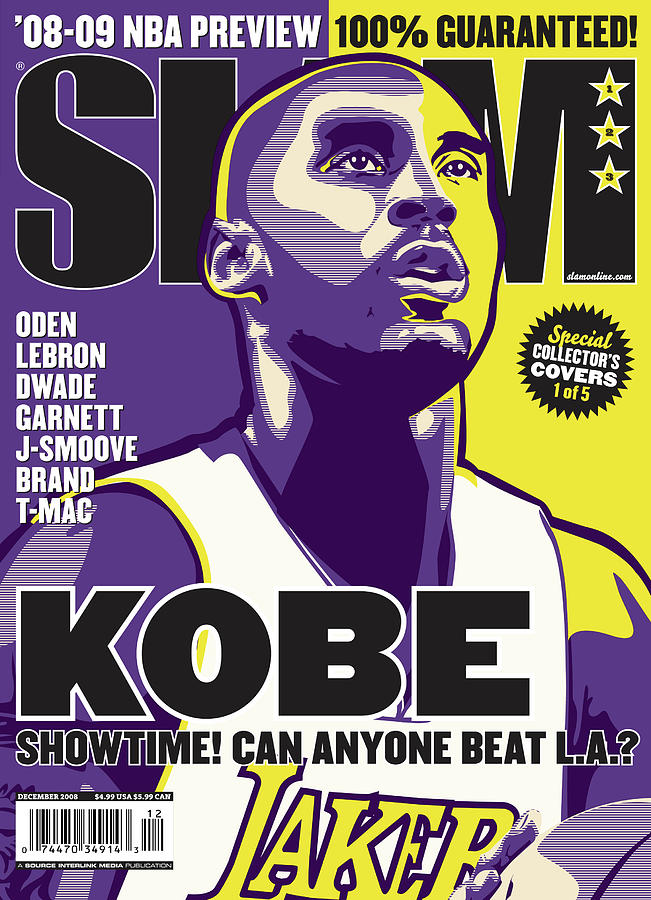 Kobe: Showtime! Can Anyone Beat L.A.? SLAM Cover Photograph by Slam