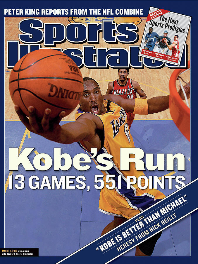 Kobes Run 13 Games, 551 Points Sports Illustrated Cover Photograph by Sports Illustrated