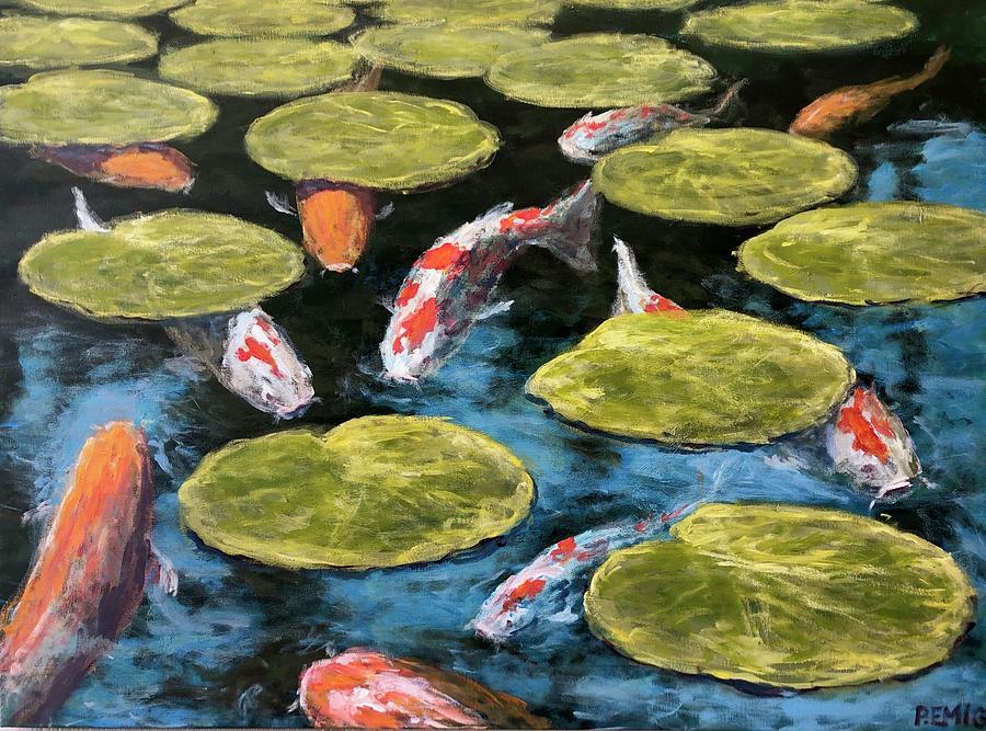 Koi Painting - Koi Fish by Paul Emig