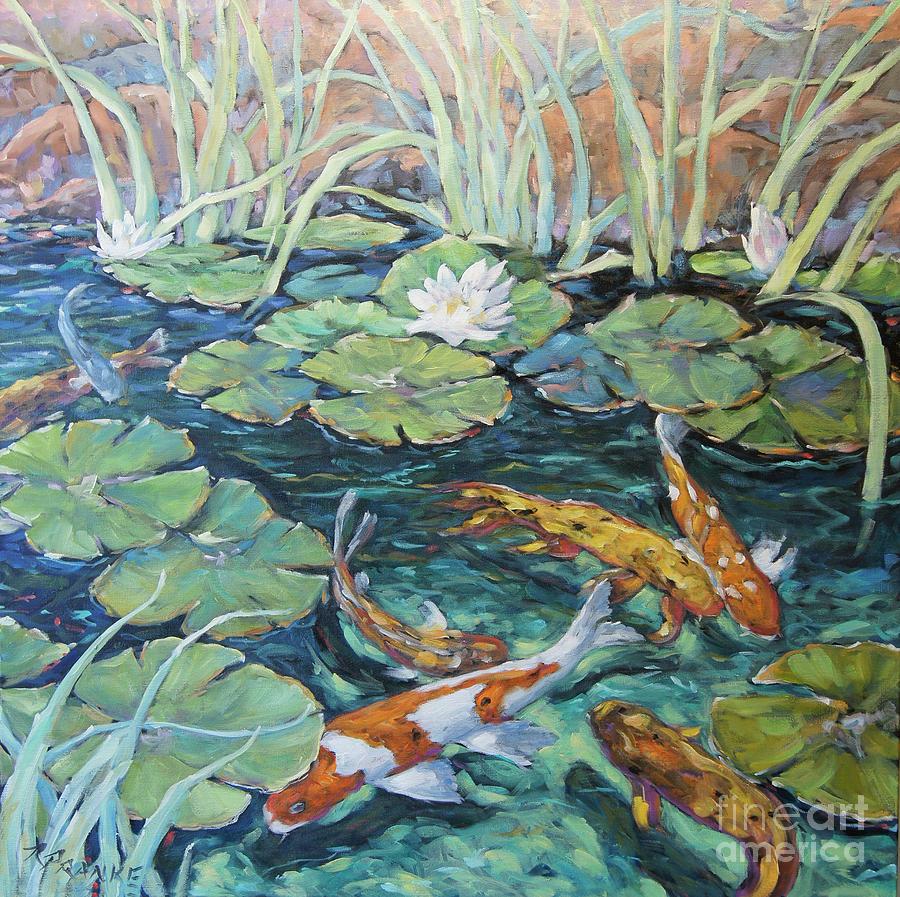 Koi Fish Pond by Richard Pranke by Richard T Pranke