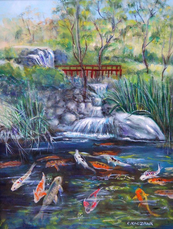 Koi in Japanes Garden by Olga Kaczmar