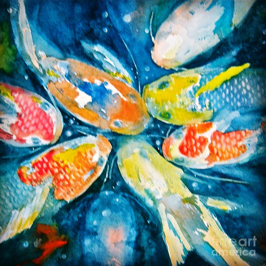 Koi Painting - KOI by Midge Pippel
