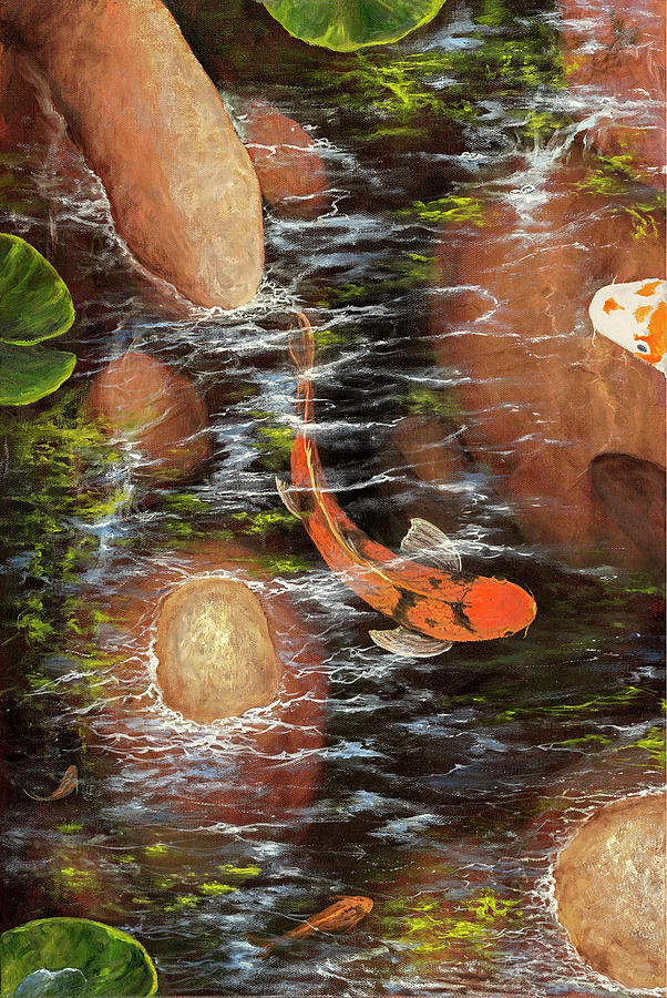 Koi Pond Left Side by Darice Machel McGuire