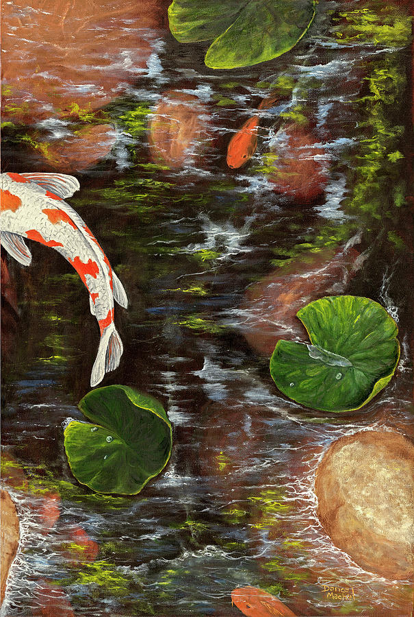 Koi Pond Right Side by Darice Machel McGuire