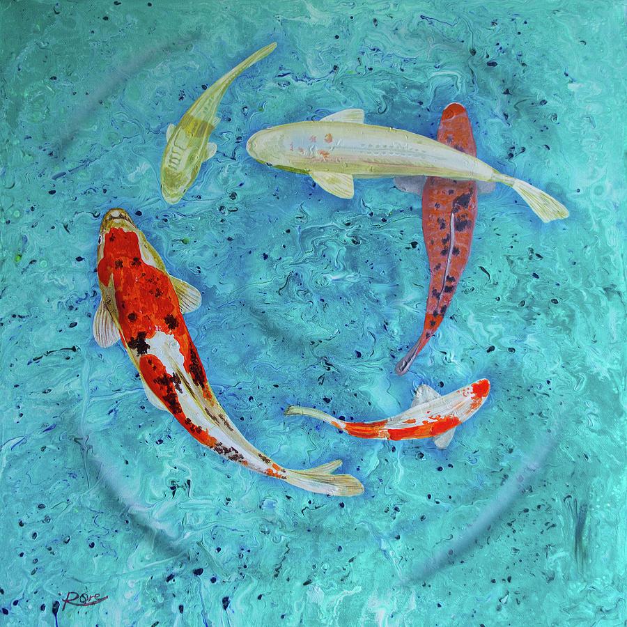 Koi Fish Pond Painting - Koi by Raymond Ore