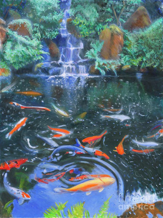 Koi Waterfall by Candace Lovely