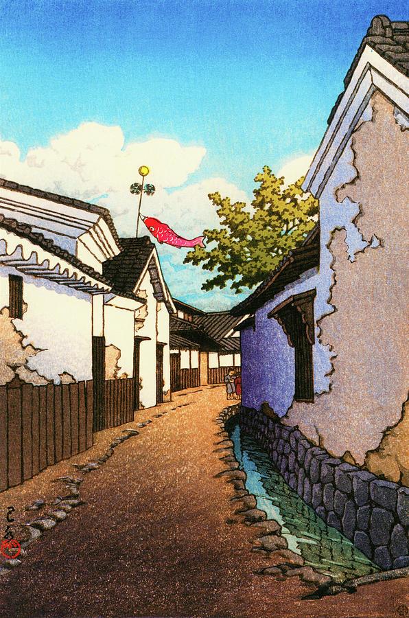 Ukiyoe Painting - Koinobori - Digital Remastered Edition by Kawase Hasui