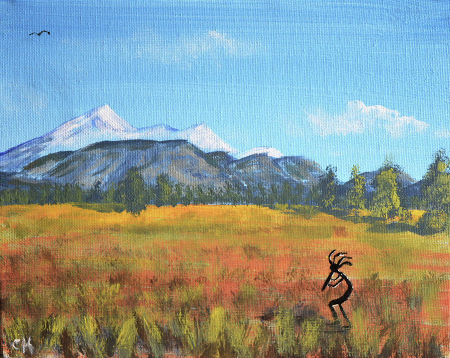 Kokopelli and the San Francisco Peaks by Chance Kafka