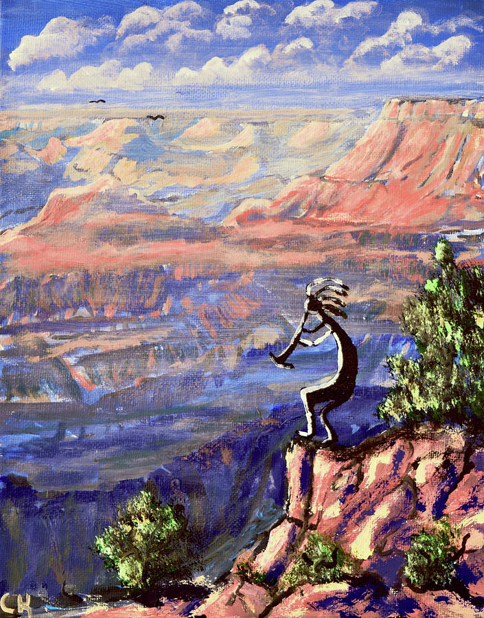 Kokopelli at the Grand Canyon  by Chance Kafka