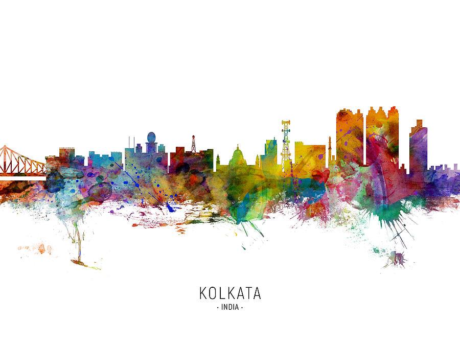 Kolkata Calcutta India Skyline by Michael Tompsett
