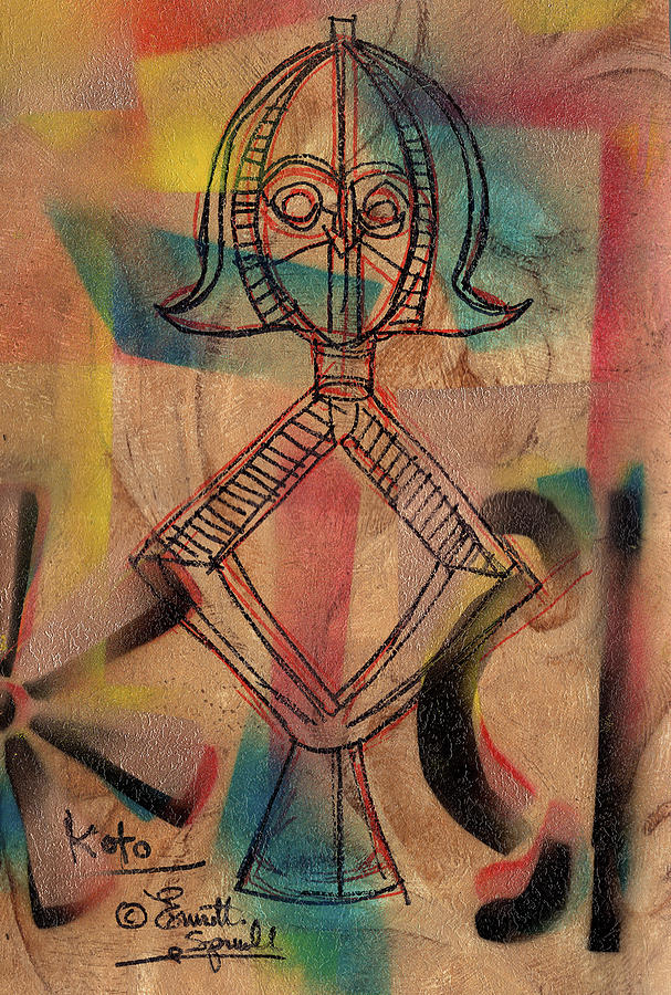 Kota Reliquary Figure - A by Everett Spruill