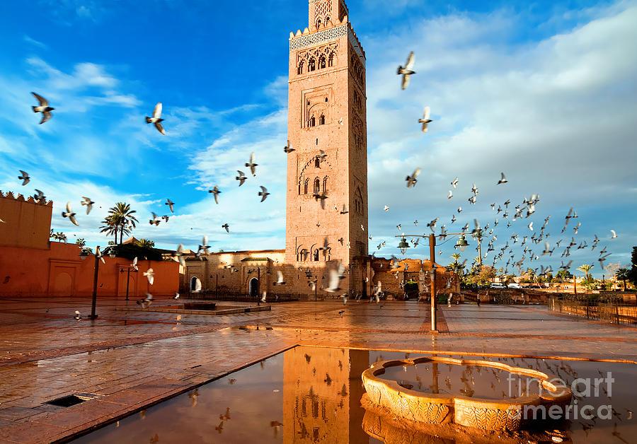 Marrakech Photograph - Koutoubia Mosque, Marrakech, Morocco by Migel