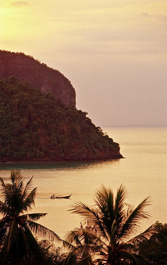 Krabi Province, Ko Phi Phi Don, Sunset Photograph by John Seaton Callahan
