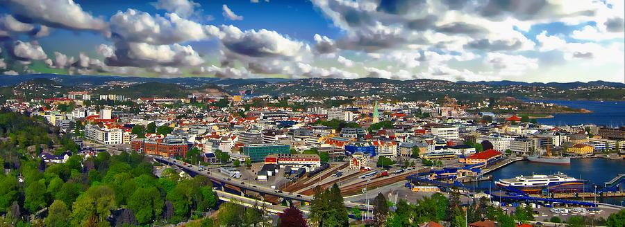 Kristiansand Panorama by Anthony Dezenzio