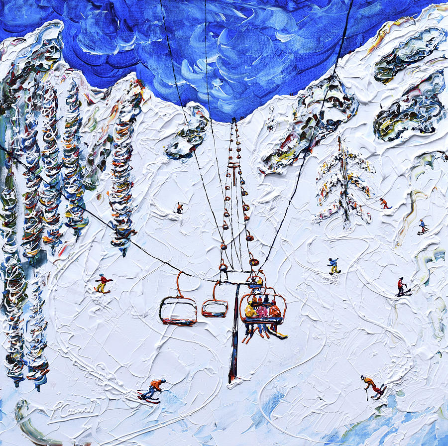 KT-22 Chair Lift Squaw Valley by Pete Caswell