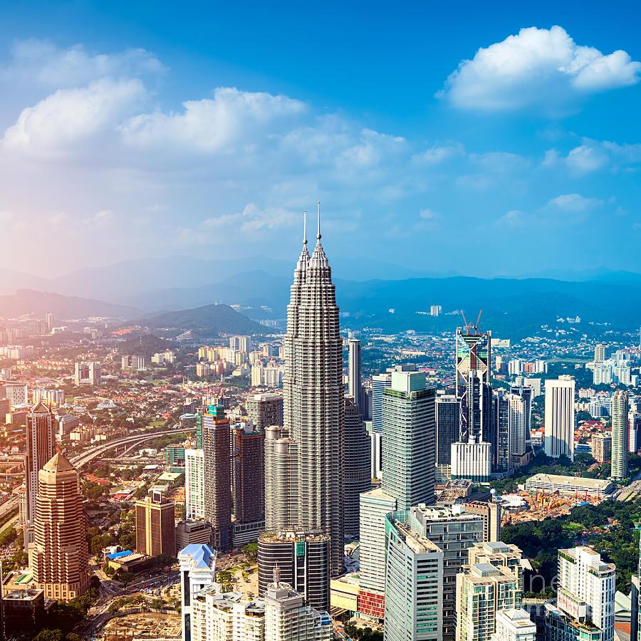 Office Photograph - Kuala Lumpur Skyline Malaysia by R.nagy