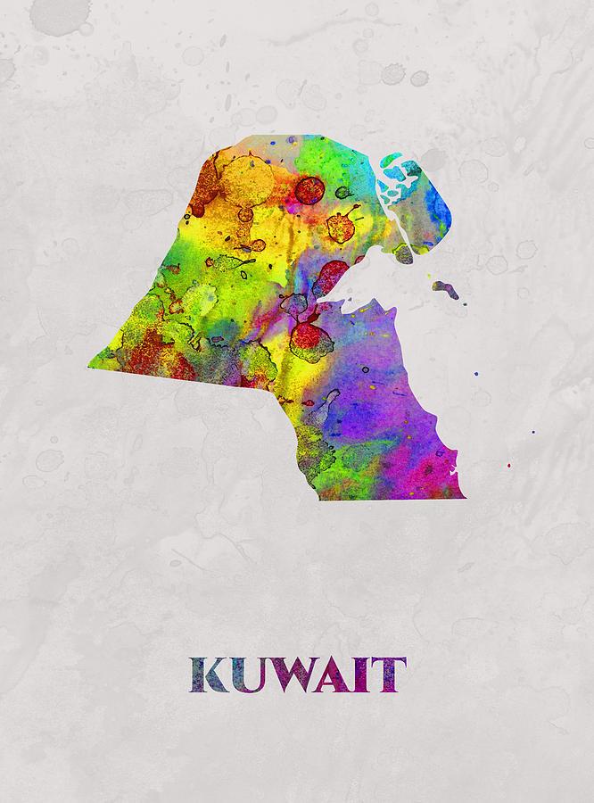 Kuwait, Map, Artist Singh