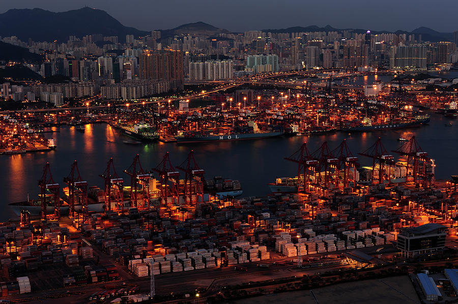 Kwai Chung Container Terminal Photograph by Wallacefsk