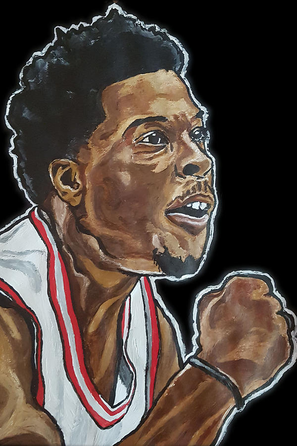 Lowry Painting - Kyle Lowry by Rachel Natalie Rawlins