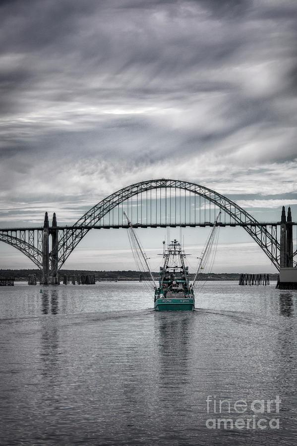Kylie Lynn and Yaquina Bay Bridge by Sonya Lang
