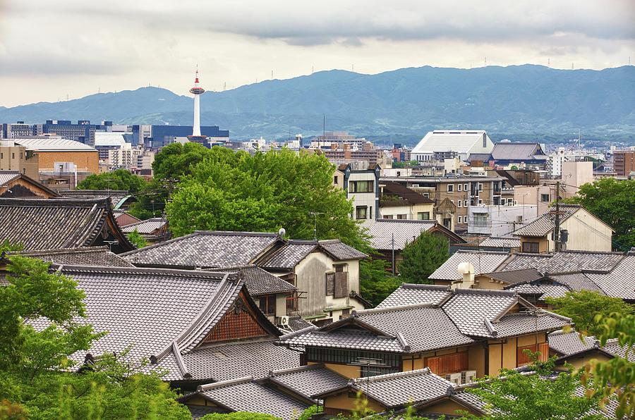 Kyoto City Skyline From The Higashiyama Photograph by Image © Andy Heather