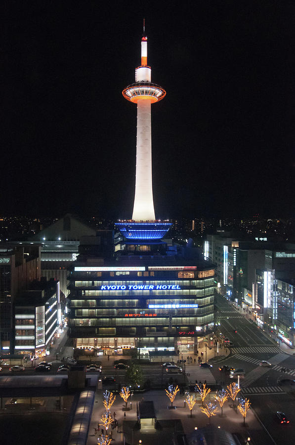 Kyoto Tower Photograph by Genpi Photo