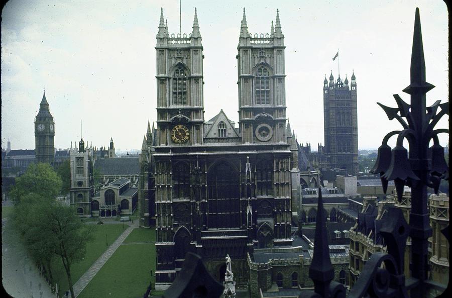 L-r Big Ben Clock Tower, Houses Of Photograph by Eliot Elisofon