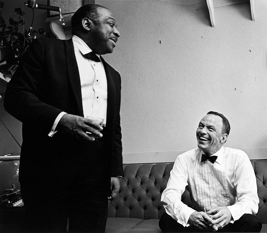 L-r Count Basie And Frank Sinatra Photograph by John Dominis