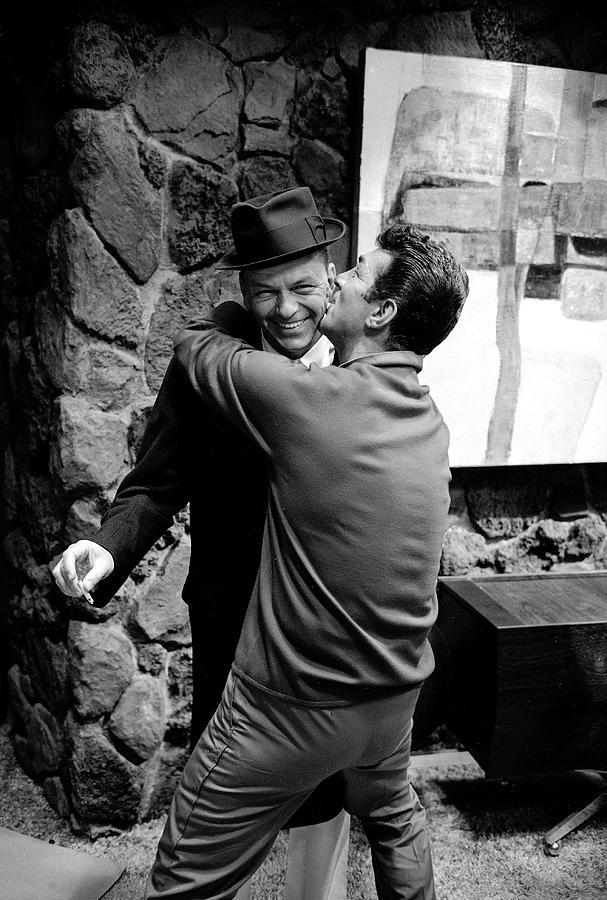 People Photograph - L-r Entertainer Frank Sinatra Getting by John Dominis