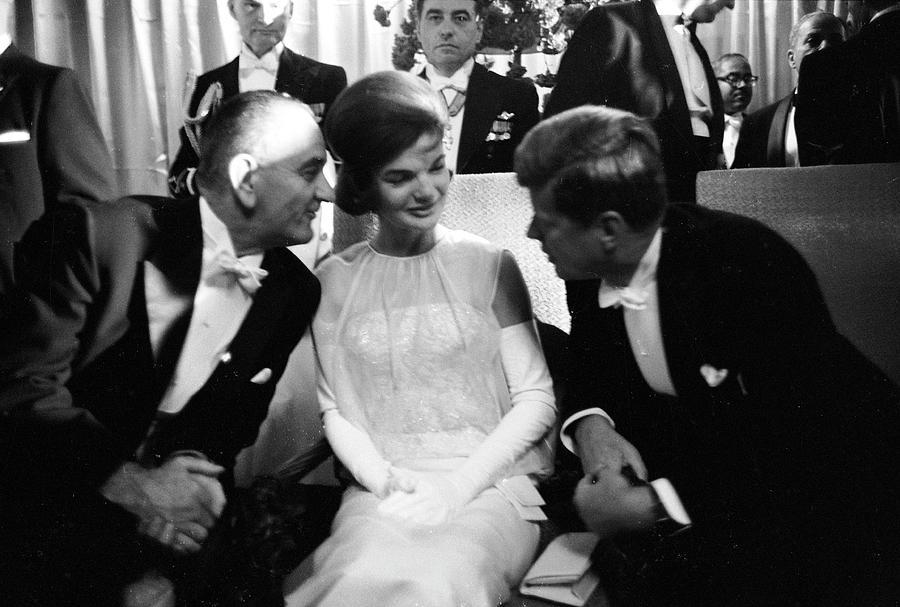 L-r Vp Lyndon B. Johnson, First Lady Photograph by Paul Schutzer