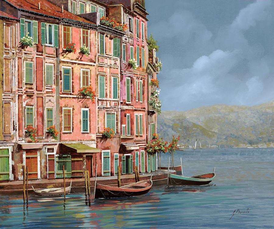 la calata a Portofino Painting