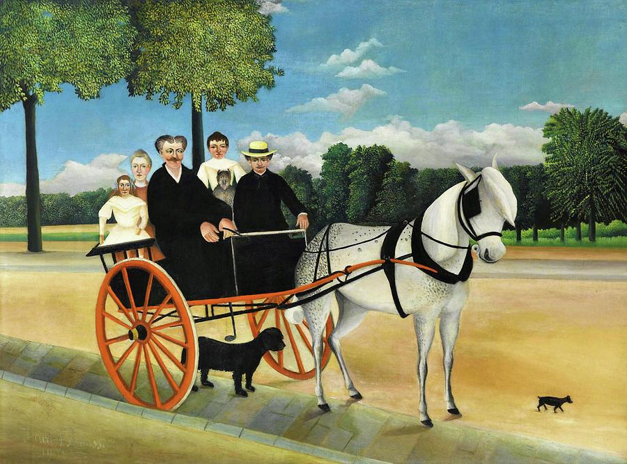 Henri Rousseau Painting - La Carriole Du Pere Junier - Digital Remastered Edition by Henri Rousseau