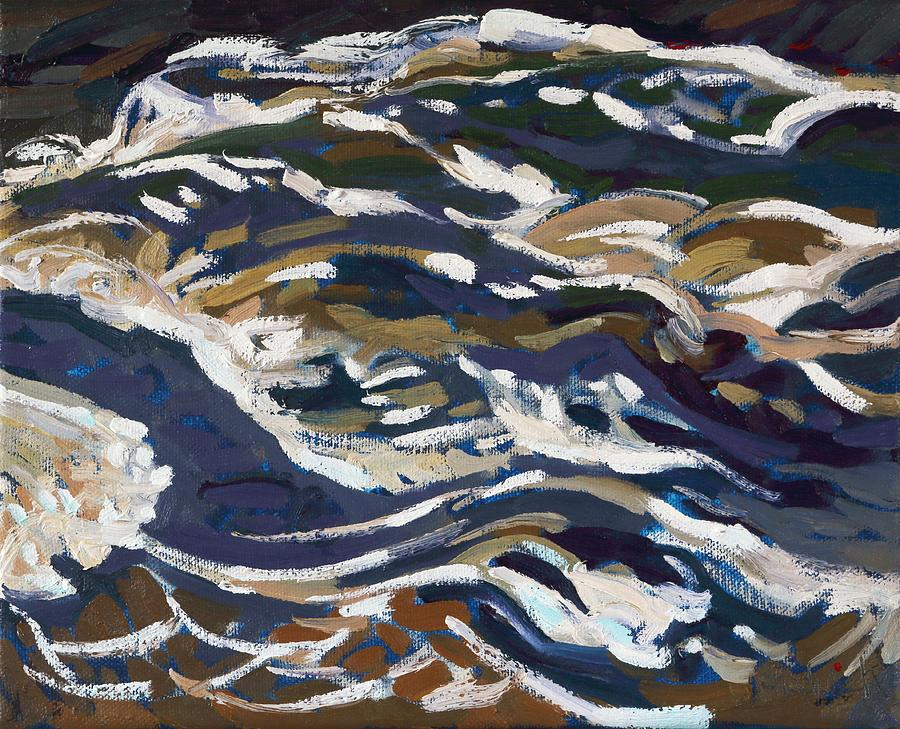 August Painting - La Chute Dumoine Cataracts by Phil Chadwick