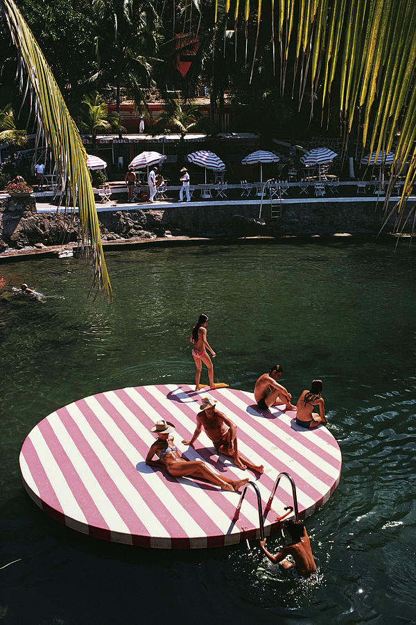 La Concha Beach Club Photograph by Slim Aarons