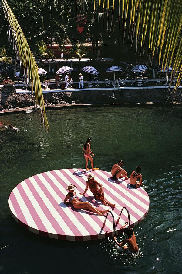 La Concha Beach Club Photograph by Slim Aarons