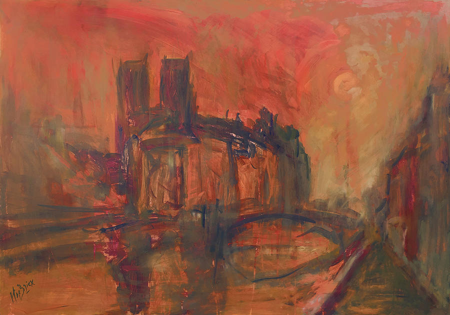 La Fleche disparu Notre-Dame Paris by Nop Briex