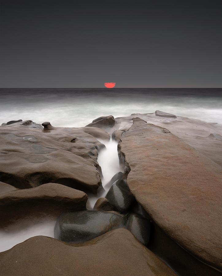 San Diego Photograph - La Jolla Red Sun by William Dunigan