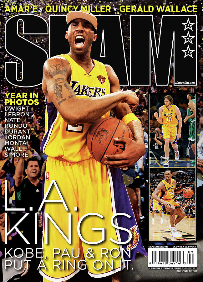 L.A. Kings: Kobe, Pau & Ron Put a Ring on It SLAM Cover Photograph by Getty Images
