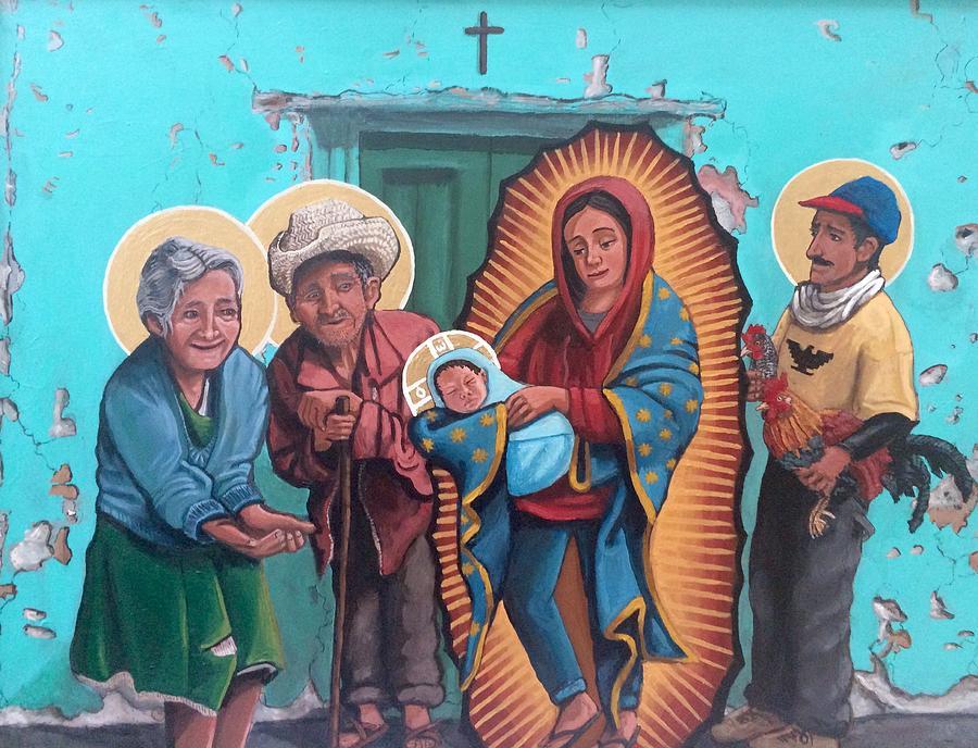 La presentacion de Cristo en el templo Painting by Kelly Latimore