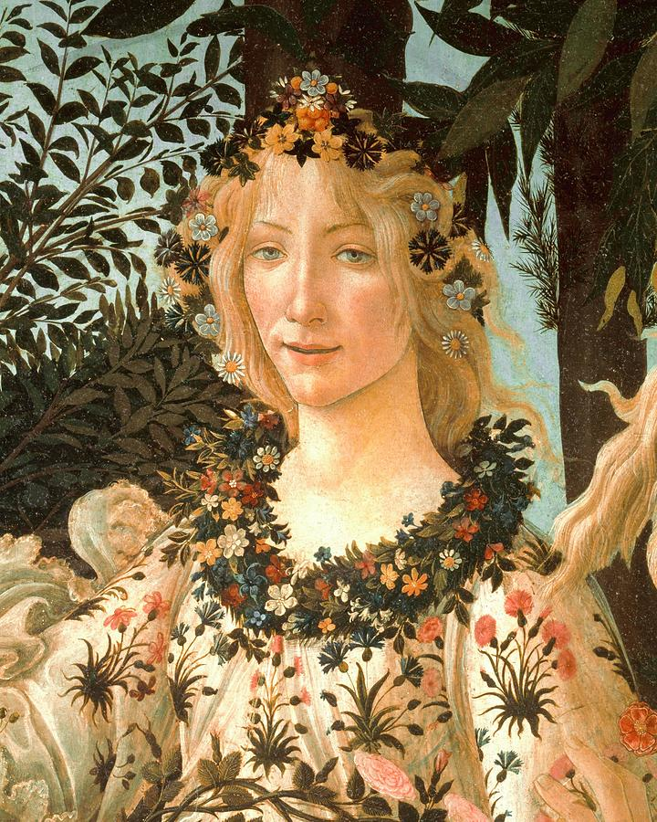 Sandro Botticelli Painting - La Primavera .detail Of Spring C.1477-1490. by Sandro Botticelli -1445-1510-