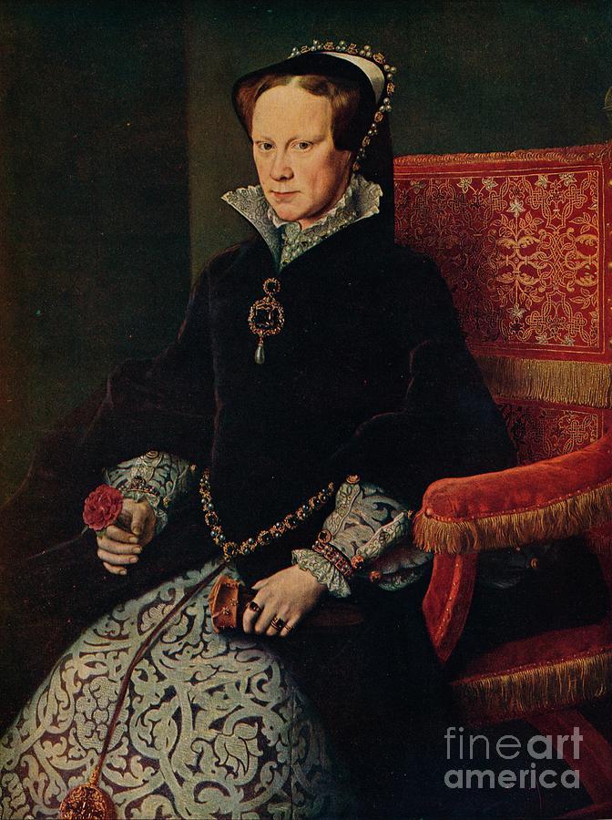 La Reina Maria De Inglaterra, Mary Drawing by Print Collector
