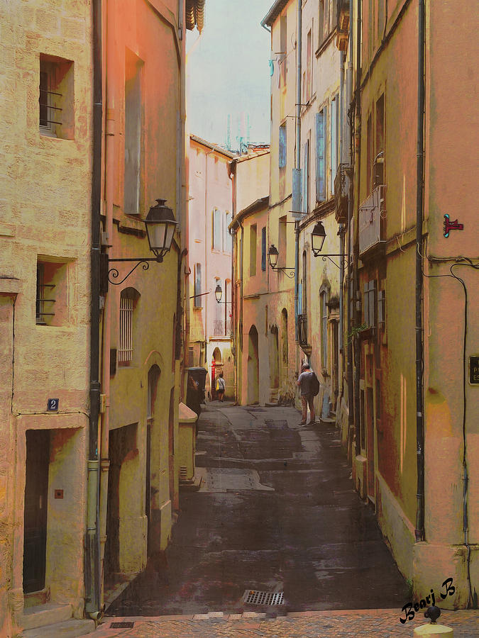 La Rue, Montpellier by Bearj B Photo Art