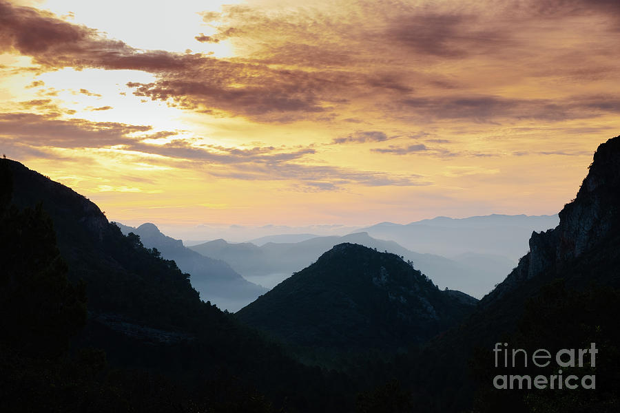 La Safor Mountains, Spain sunset by Peter Noyce